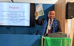 David Paul speaking at COP24