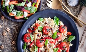 Baked vegetable salad by Lauraine Jacobs