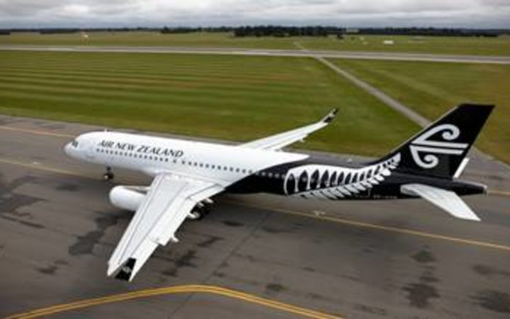 Air New Zealand's new fern livery on an Airbus A320 aircraft..