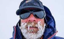 Henry Worsley during his solo unaided traverse of Antarctica