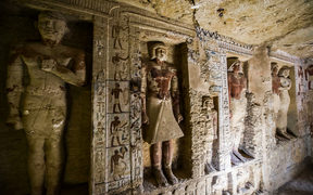 The well-preserved tomb is decorated with scenes showing the royal priest alongside his mother, wife and other members of his family, the ministry said in a statement.