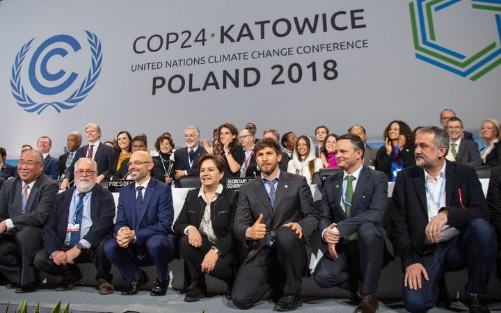 15 December 2018, Poland, Katowice: Participants of the climate summit
