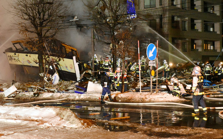 Dozens of people have been injured in the explosion in Sapporo.