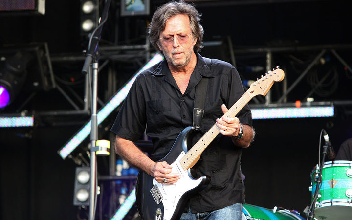 Eric Clapton playing live at the Hard Rock Calling concert on June 28, 2008 in Hyde Park, London