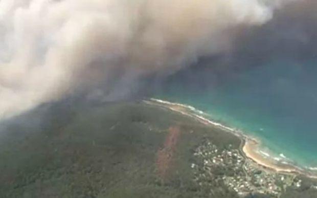 Fire in Otway Ranges near Wye River, Victoria