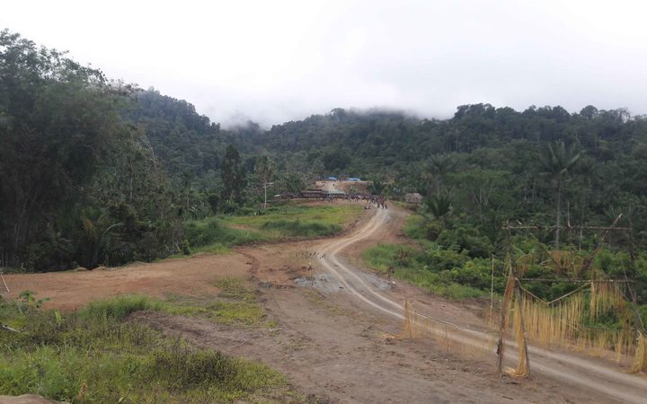 The road that links links Serra Point to Lumi in West Sepik province