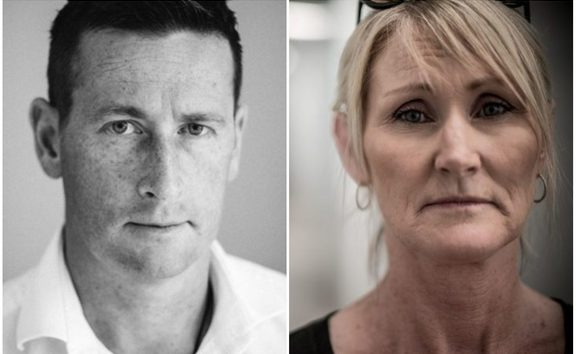 Investigator Tim McKinnel and Gail Maney.