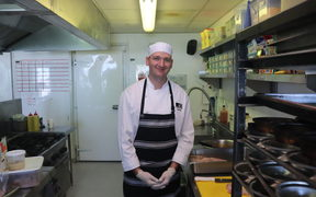 Summer chef in Antarctica Corporal Quentin Hathaway is on his first overseas deployment and without his family on Christmas.