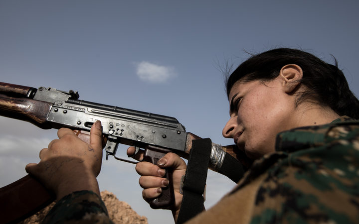 The Kurdish Workers Party has a feminist ideology and promotes gender equality