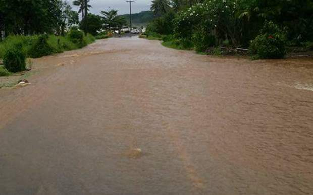 Heavy rain in Samoa has caused flooding