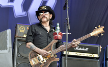 Motorhead bassist Lemmy Kilmister performs at Hellfest in western France on 19 June 2015.