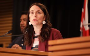 Jacinda Ardern at post-cabinet meeting on 17.12.2018.