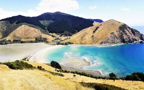 The view of Cable Bay from Pepin Island.