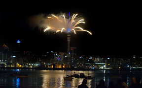 Fireworks displays from the Sky Tower.