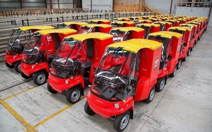 The fleet of Paxster vehicles were rolled out last year.