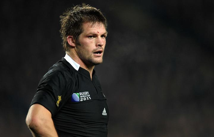 All Blacks captain Richie McCaw during the All Blacks v France pool A match of the 2011 IRB Rugby World Cup at Eden Park.
