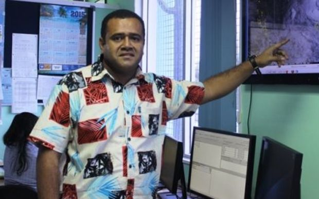 Misaeli Funaki during media briefing at Nadi Weather Office.