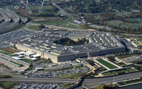 US Pentagon Washington DC seen from above