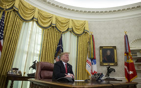 President Donald Trump in the Oval Office.