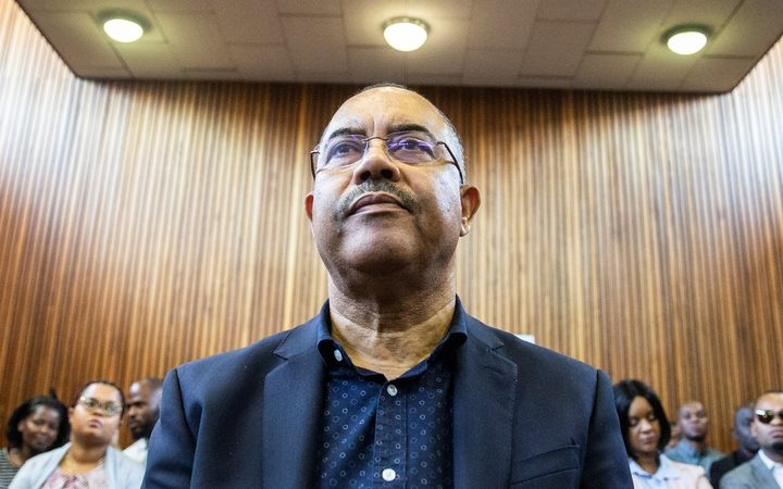 Manuel Chang, former finance minister of Mozambique, appears at the Kempton Park Magistrates court to fight extradition to the United States.