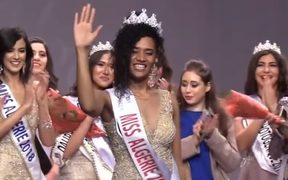 Khadija Ben Hamou, who has faced racist abuse after being crowned Miss Algeria 2019.