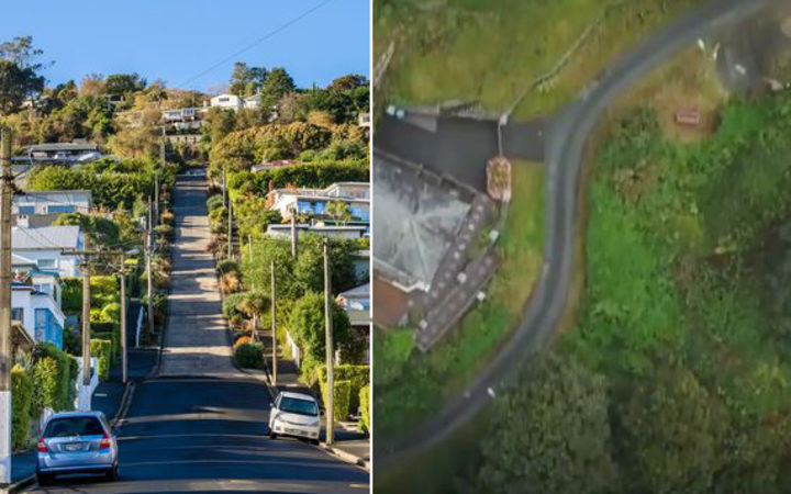 Dunedin's Baldwin St (left) has been challenged by Ffordd Pen Llech in Wales.