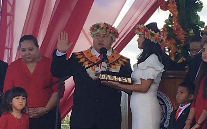 Ralph Torres takes oath as 12th CNMI governor