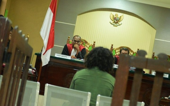West Papuan political prisoner Yanto Awerkion is sentenced to ten months jail for treason by an Indonesian court.