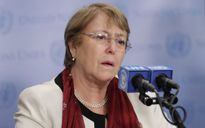 United Nations High Commissioner for Human Rights Michelle Bachelet.