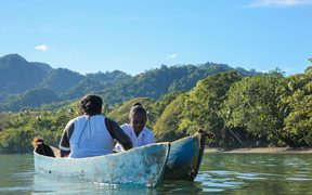 A scene from the film 'Vai' of the Solomon Islands story directed by Matasila Freshwater.