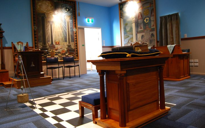 The altar stands proudly in the Freemasons new centre in Christchurch  