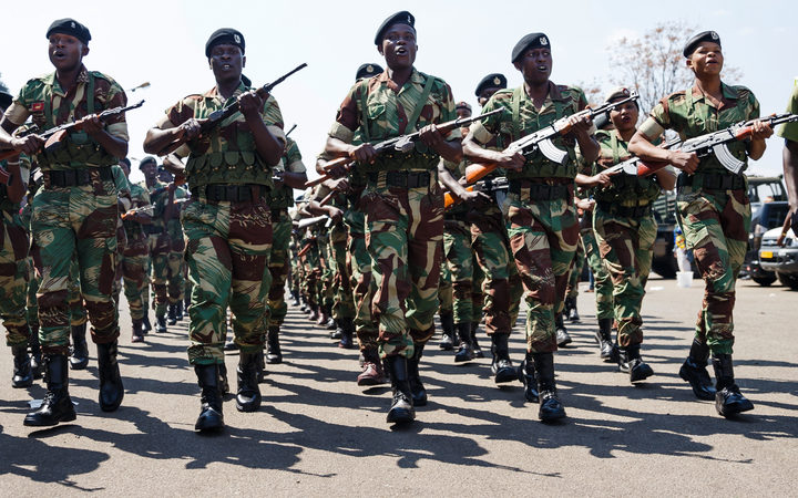 Members of the Zimbabwe National Army AFP