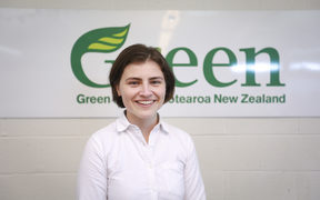 Chloe Swarbrick at Greens headquarters in Auckland