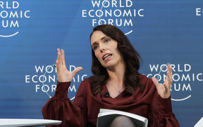 Prime Minister Jacinda Ardern at the World Economic Forum in Davos, Switzerland.