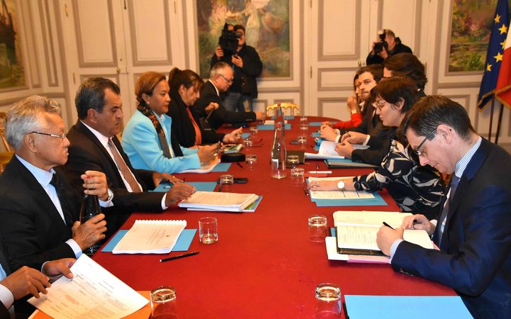 Talks in Paris between a delegation from French Polynesia and the French overseas minister Annick Girardin.