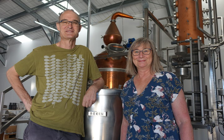 Juno Gin co-owners Dave and Jo James.