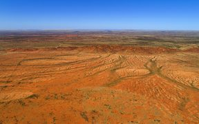 Aerial view of Australia outback