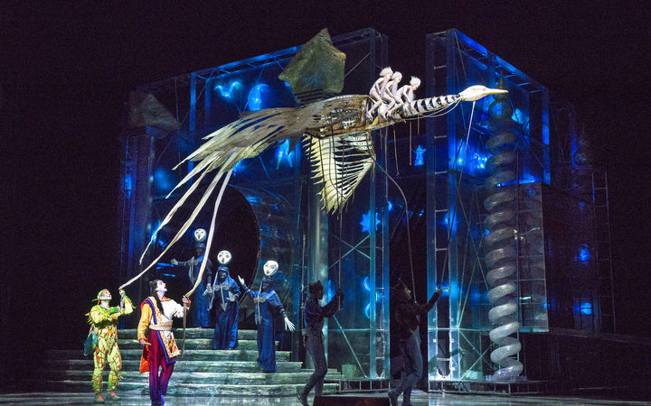 A scene from The Magic Flute at The Metropolitan Opera