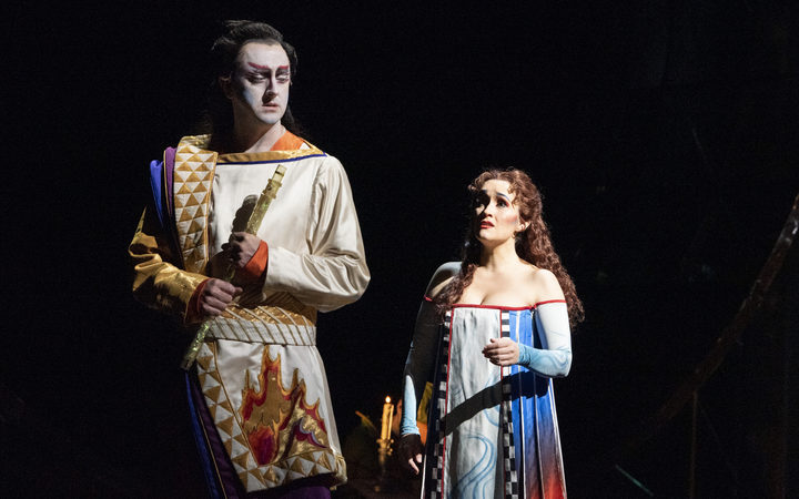 Tamino and Pamina in The Magic Flute