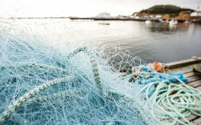 Fishing nets for trawling.