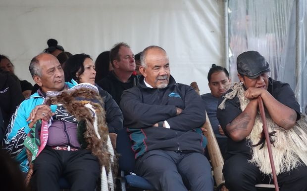 Hundreds attend the dawn service, including Maori Development Minister Te Ururoa Flavell and other Maori MPs.