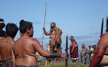 Maori re-enact the Battle of Ruapekapeka