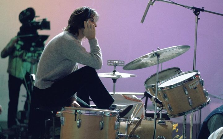 Beatles drummer Ringo Starr takes another break during the protracted Let It Be sessions.
