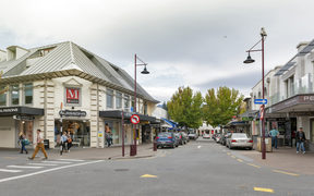 Queenstown, New Zealand - March 2016: Street scenes and business district of Queenstown, south island of New Zealand