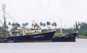 Filipino fishing vessels docked in Madang, PNG.Filipino fishing vessels docked in Madang, PNG.