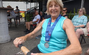 Margie Chiet, 70, doesn't let a couple of metal pieces in her limbs and osteoarthritis  hold her back from competing in the NZ Masters Games.