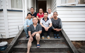 A group of chinese workers who came to New Zealand after being promised work by Peter Li and NPL