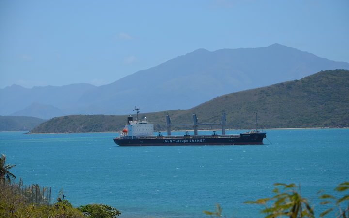 SLN ship entering Noumea harbour
