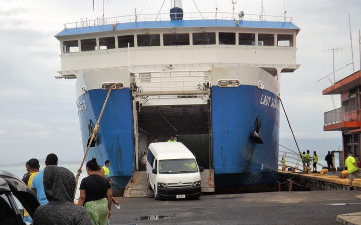 Samoa Shipping Corporation ferry  at Mulifanua wharf