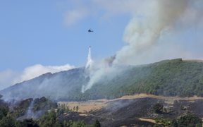 The blaze on the hills above Nelson has now been brought under control.
